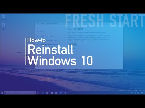 How to use 'Fresh Start' to reinstall Windows 10 (Creators Update)