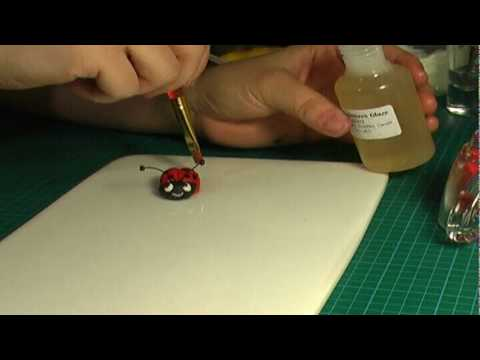 How to make fondant (gum paste) ladybug (ladybird) - 2/2