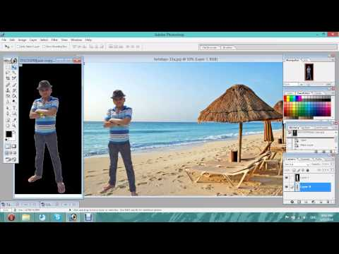 How to mix two photos in one