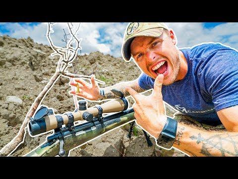 Impossible 100 yard shot! Bullet VS Fishing Line