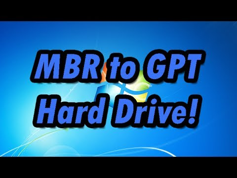 How to convert a MBR Hard drive to GPT (GPT to MBR)