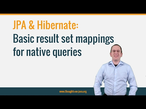 Basic result set mappings for native SQL queries