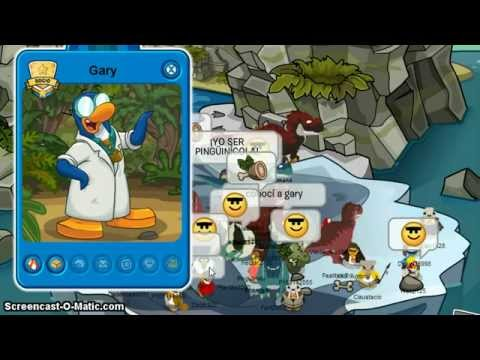 Club Penguin Gary At Prehistoric Party 2013
