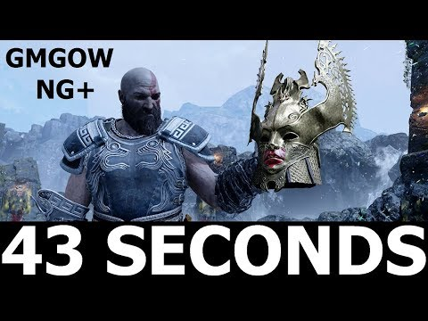 God Of War - Valkyrie Queen Sigrun - 43 SECONDS KILL [GIVE ME GOD OF WAR, NEW GAME PLUS]