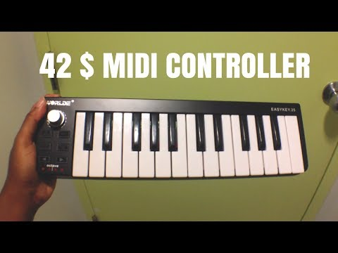 42 $ Midi Controller - Worlde Easy Key25 ( REVIEW)