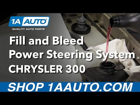 How to Fill and Bleed Power Steering Oil System 2006 Chrysler 300