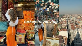 TURKEY VLOG | grand bazaar, the blue mosque, galata tower, + more!