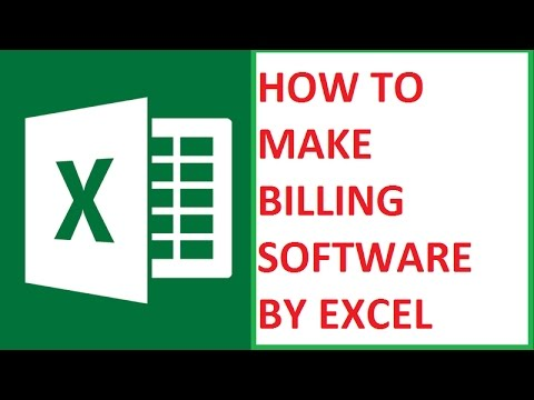 How To Make Bill software By Excel at Home