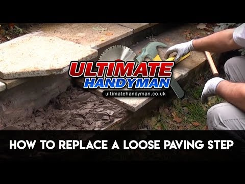 How to replace a loose paving step