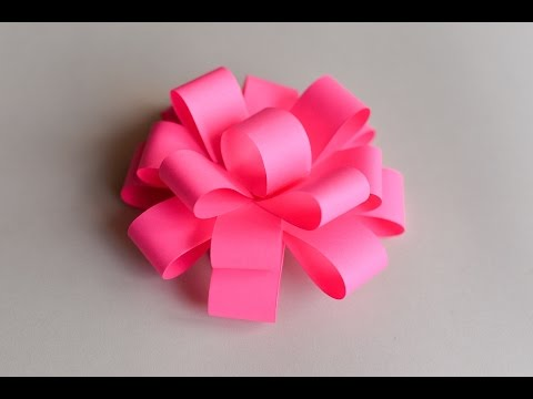 How to Make - Easy Paper Bow  - Step by Step | Papierowa Kokarda