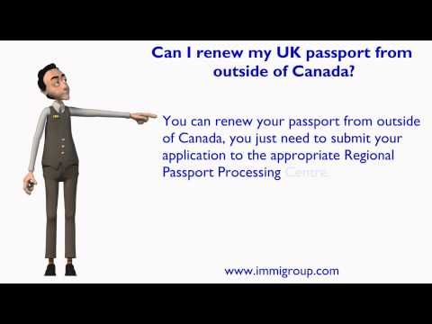 Can I renew my UK passport from outside of Canada?