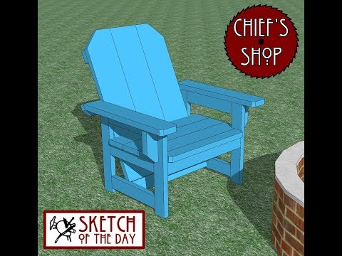 Chief's Shop Sketch of the Day: Firepit Chair