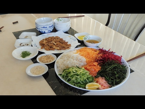 Prosperity Toss For Chinese New Year| Lou Sang | Yee Sang | Overseas Chinese in NZ