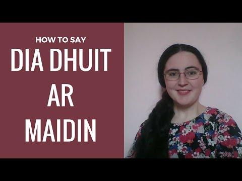 Saying Good Morning in Irish Gaelic