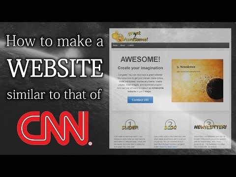 How to make a Website like CNN | EASY step-by-step WordPress tutorial (short version)