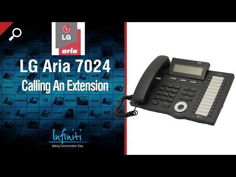 LG Aria 7024 Phone Handset + 7016 Handset -- Calling An Extension [Infiniti Telecommunications]