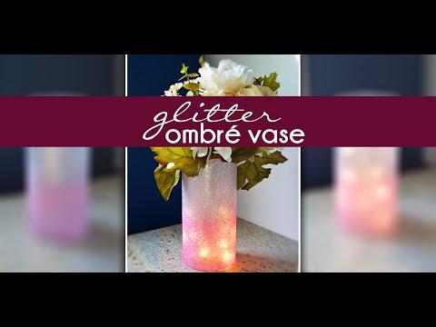 HOW TO: Pinterest Glitter Ombré Vase