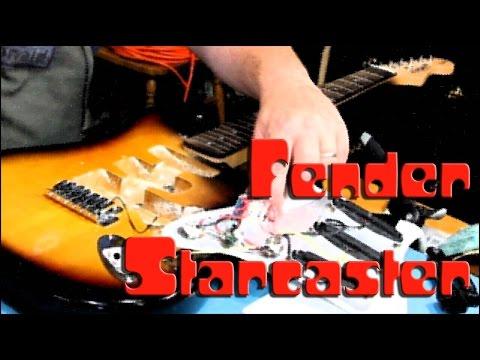 FENDER STARCASTER gets strings | Rattlecan Guitar Restorations by James O'Rear