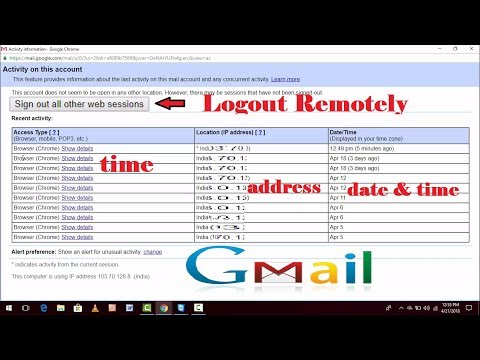 How to Check Gmail Account Login History and Logout Remotely From Any Where   Copy