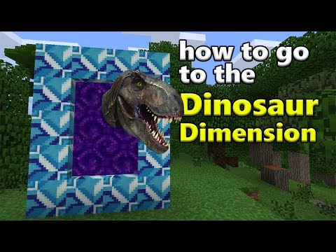 How to go to the Dinosaur Dimension | Minecraft PE