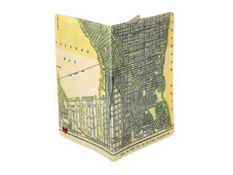 Seattle Map Travel Passport Holder by 11:11 Enterprises