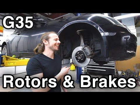 Change Rotors and Brakes [Infiniti G35/Nissan 350Z] (COMPLETE TUTORIAL w/ Pro Tips)