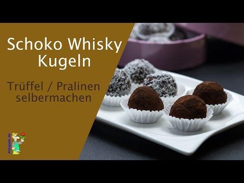 Schoko Whisky Kugeln - Trüffel Pralinen selber machen