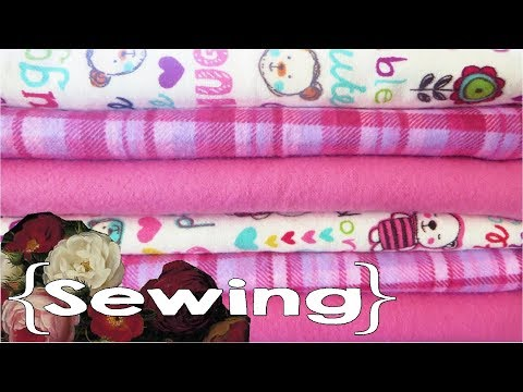 How to Sew Flannel Receiving Blankets
