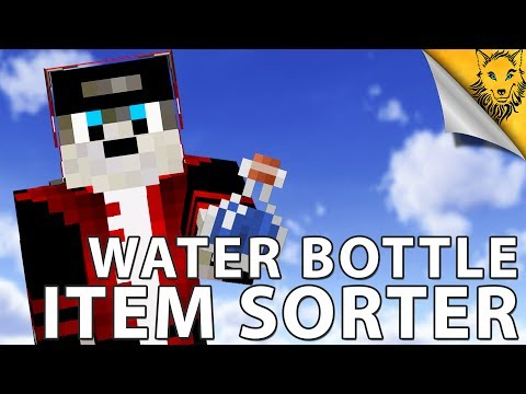Minecraft: Water Bottle Item Sorter [Tutorial]