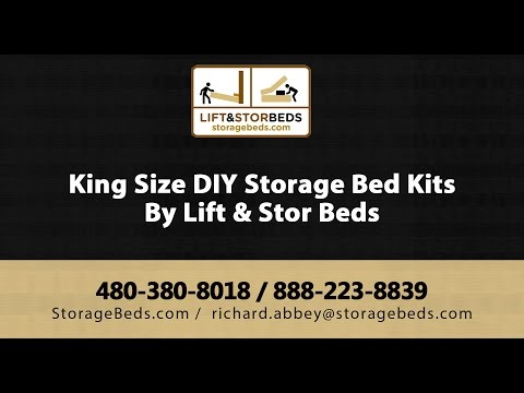 King Size DIY Storage Bed Kits By Lift & Stor Beds