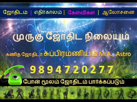 Astrologer-Subramaniam M.A., Cell: 9894720277