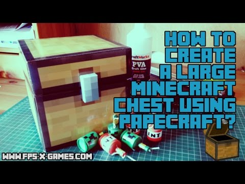 How to Create a Large Minecraft Chest Using Papercraft
