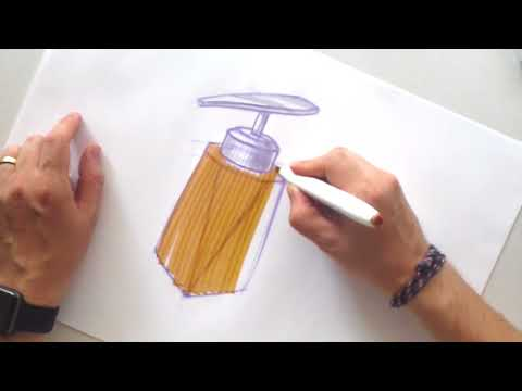 How to Sketch with Markers. Product Design sketching