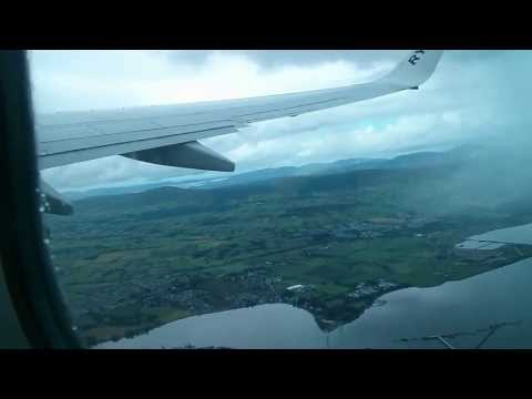 Take off LDY Derry airport flying over the River Foyle - Stunning scenery