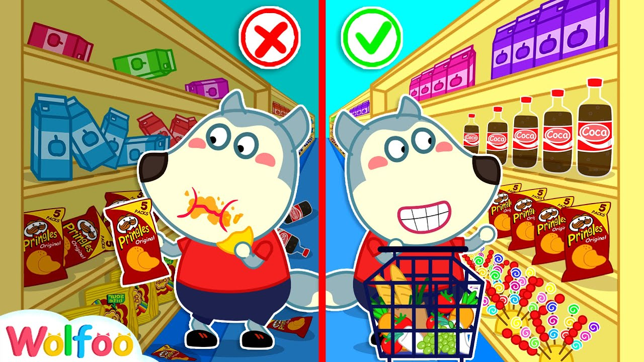 No No, Wolfoo! Keep the Rules of Conduct in the Supermarket | Wolfoo Channel Kids Cartoon