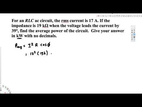 find the average power of the circuit