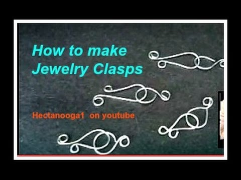 How to make a simple jewelry clasp, fastener for necklaces or bracelets, jewelry making