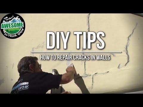 DIY TIPS - How to repair cracks in walls | TAOutdoors