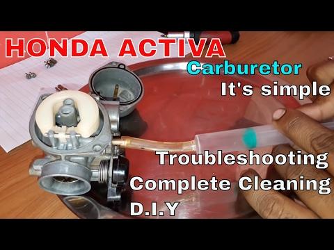How to clean scooter carburetor(HONDA ACTIVA)😟😟