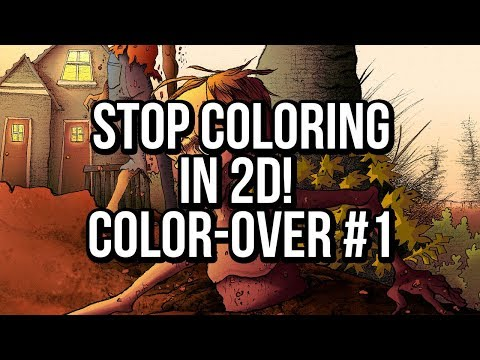 STOP Adding LIGHT in 2D! a Photoshop comic coloring tutorial!