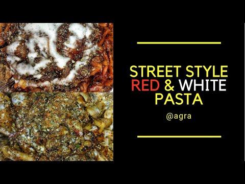 BEST Spicy Red Sauce Pasta, Creamy White Sauce Pasta | Indian Street Food | Street Food Agra