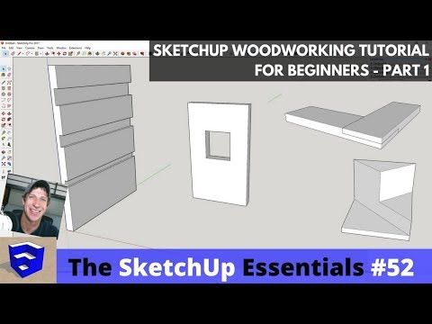 SketchUp Woodworking Tutorial for Beginners - Part 1