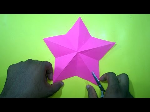 How to make a Christmas star With ONE Cut only || Easy Craft Ideas for Kids