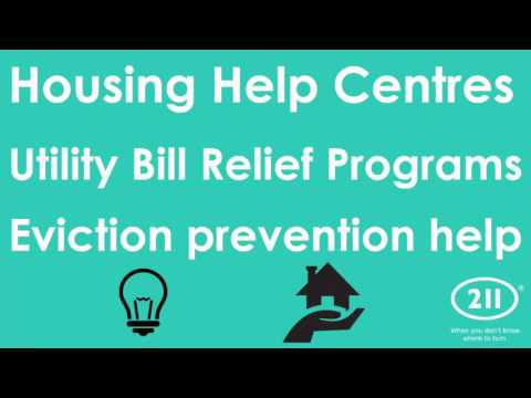 Call 211 to find housing help and homeless prevention programs