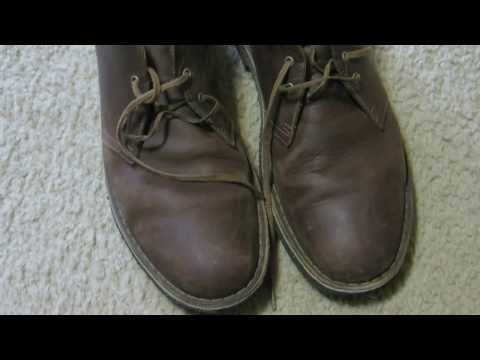 Clarks Desert Boots Beeswax Shoe Review - Leather Preservative Time Lapse
