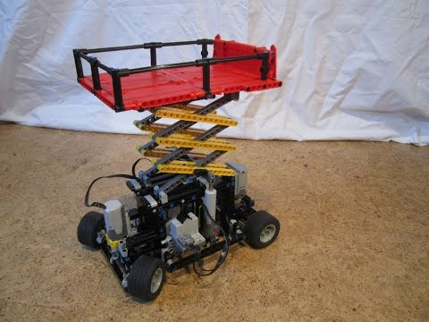 LEGO Technic Mobile Scissor Lift Hoist Platform