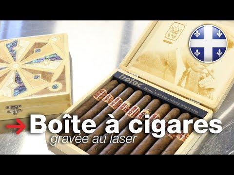 Boîte à cigares gravée au laser | Humidor incrusté avec bois | Trotec