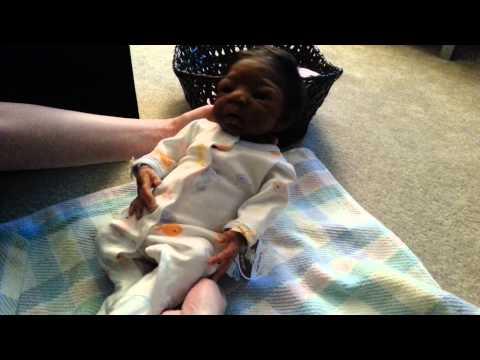 See You in a Week!! Baby Nyah Tries on her New Preemie Sleeper!