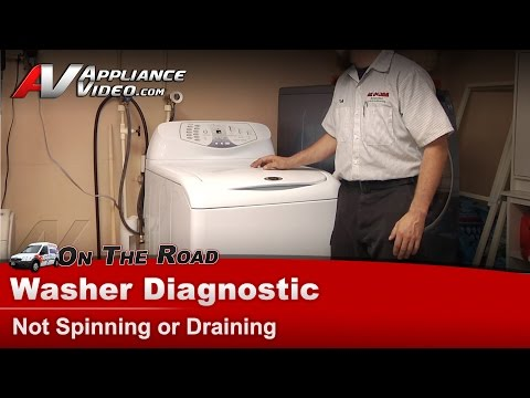 Washer Not Spinning or Draining-Repair & Diagnostic, Whirlpool,Maytag,Sears,Kenmore,Roper-FAV6800AWW