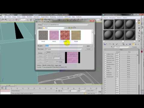 how to apply material on Door in 3ds Max 2009